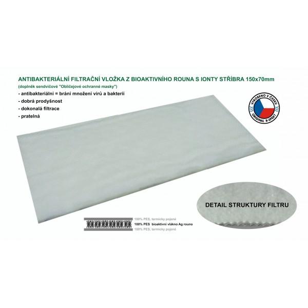 R-SPEKT Antibakteriální Ag filtrační vložka do obličejové roušky