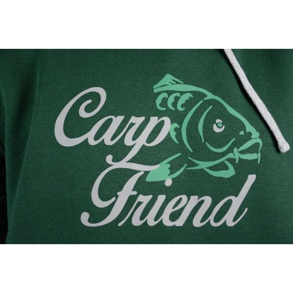 Mikina s kapucí R-SPEKT Carp Friend deep green