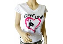 Dámské tričko R-SPEKT CARP LOVE bílé