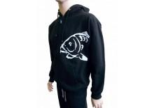 R-SPEKT Mikina zipová s kapucí Carper black