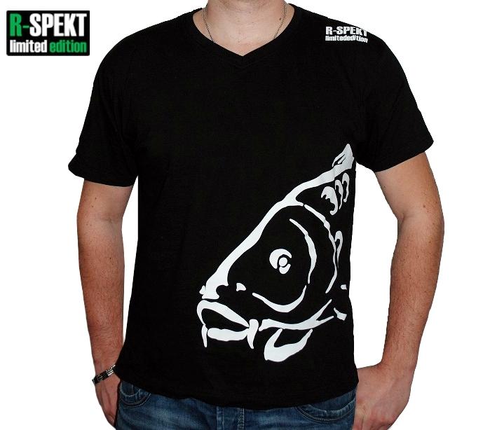 Tričko pro rybáře s kaprem R-SPEKT Carper černé