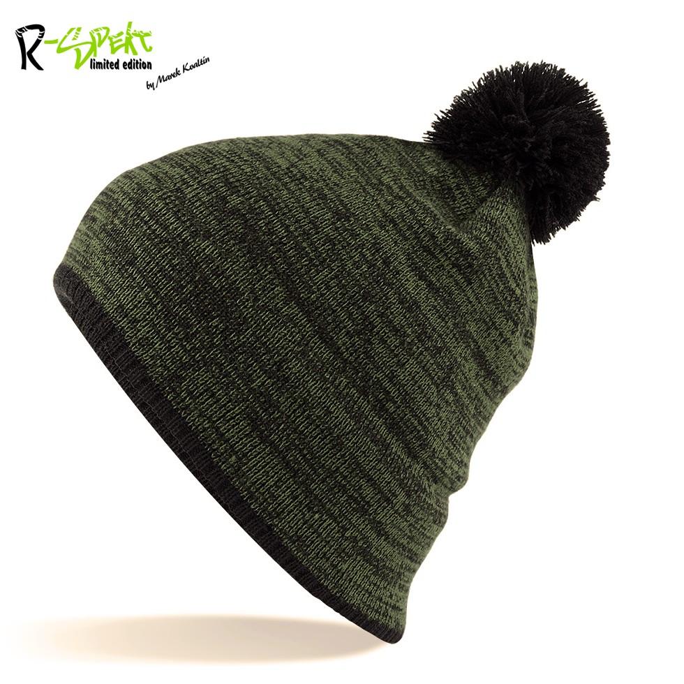 Kulich pompom beanie style zelenočerný
